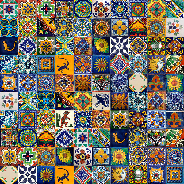 mexican talavera tile mix