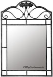 rustic iron mirror