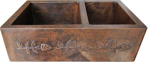 custom modern copper kitchen apron sink