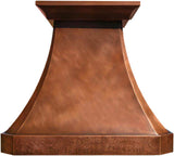 custom made oven copper range hood