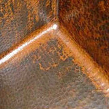 custom hammered old world copper apron sink