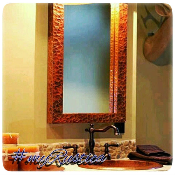 Custom Copper Mirror Frame