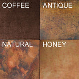 antique copper patina color choices for a round sink for a antique style bathrooms