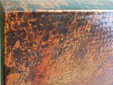 copper tabletop detail