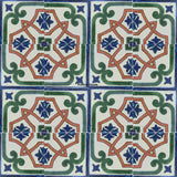 contemporary green terracotta talavera tile