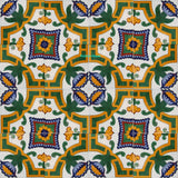 country green yellow talavera tile