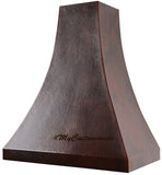 custom made cook-top copper range hood