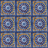 mexican yellow blue talavera tile