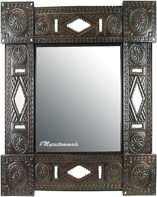 handmade tin mirror