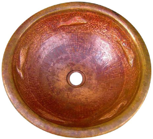 mexican round drop-in copper bath sink