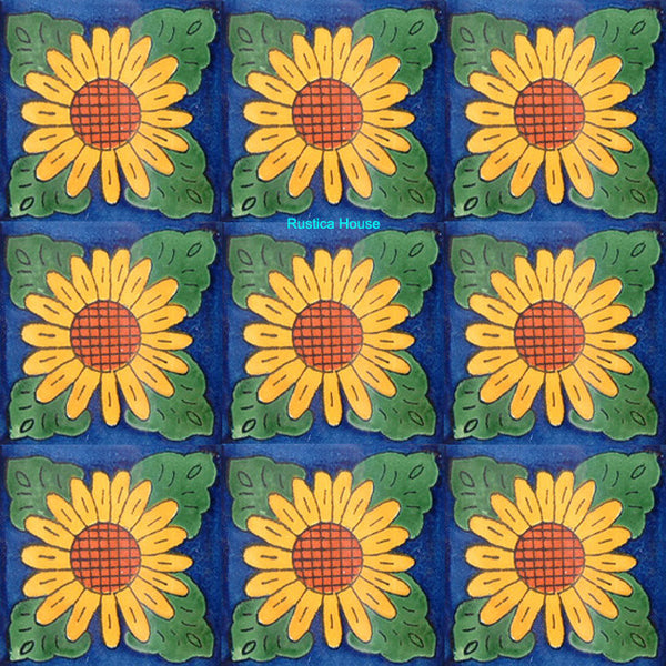 colonial yellow green talavera tile