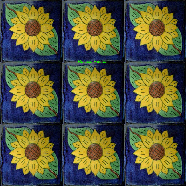 old world yellow green talavera tile