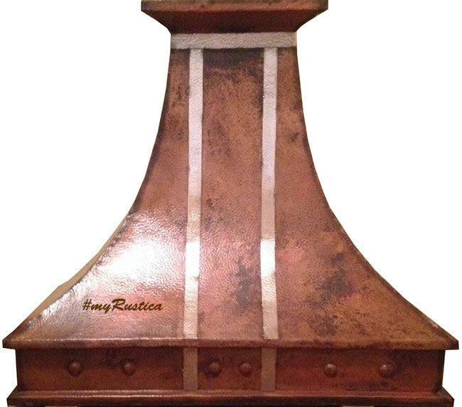 custom hammered vent copper range hood