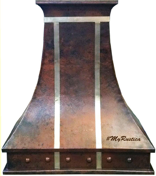 custom hammered stove copper range hood