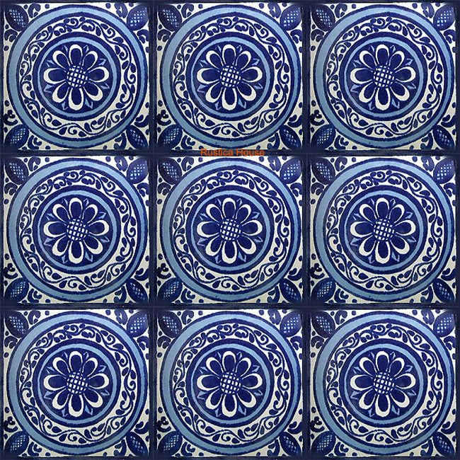 colonial blue talavera tile