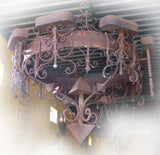 primitive iron chandelier