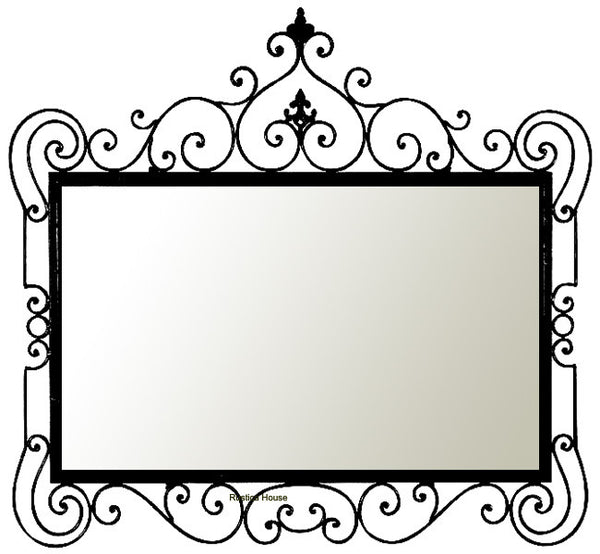 hand crafted iron mirror