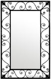 hand made iron mirror