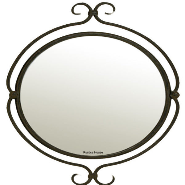 old fashion iron mirror