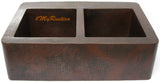 custom made European copper kitchen apron sink