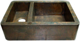 custom hammered rustic copper kitchen apron sink