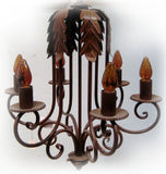 mexican iron chandelier