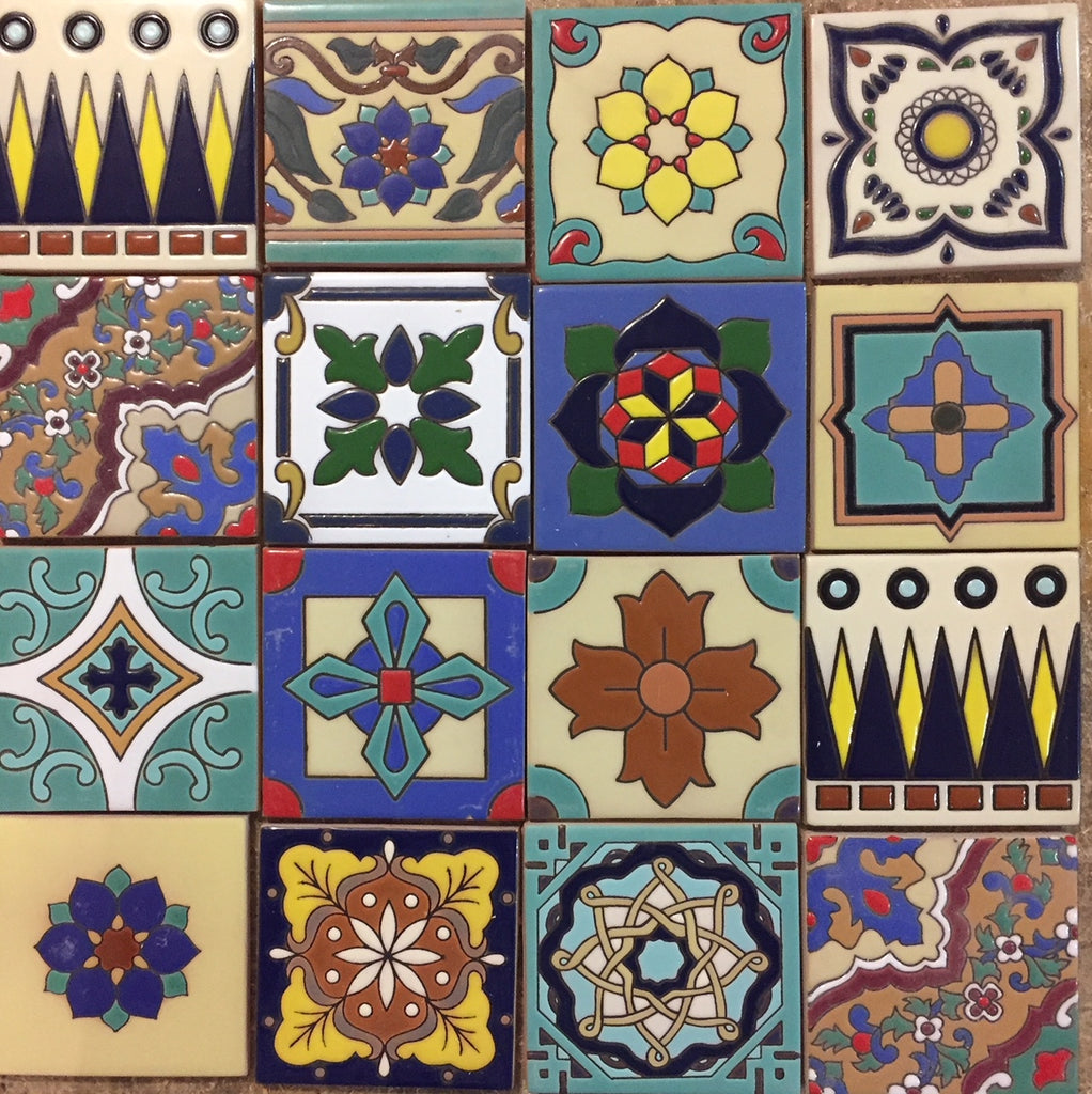 spanish relief ceramic tiles