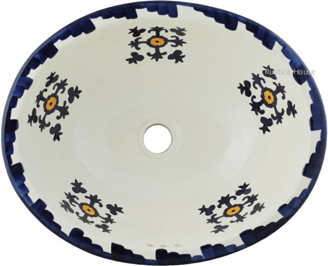 Cobalt Yellow Mexican Bathroom Sink Custom Made Products