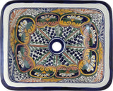 terra cotta rectangular talavera sink