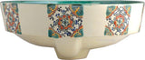 hand elaborated majolica bath sink