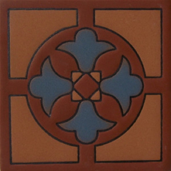 relief tile decorative blue