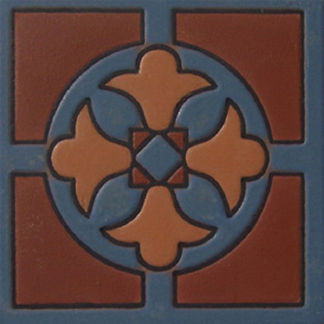relief tile Mexican brown