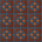 high relief tiles Mexican brown