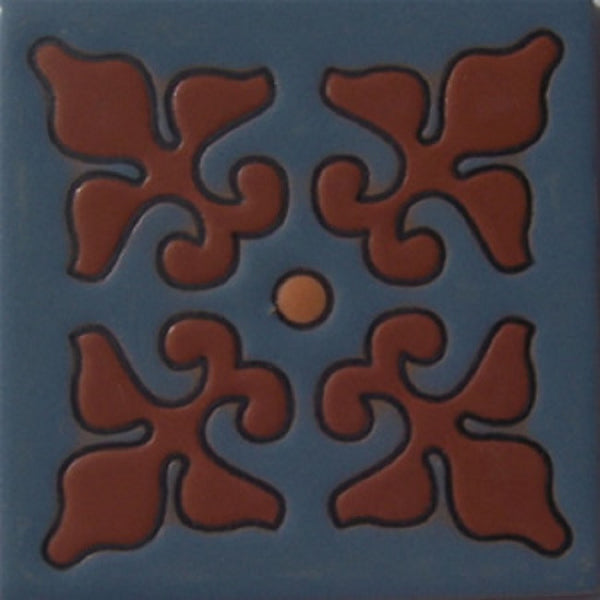 relief tile genuine dark brown