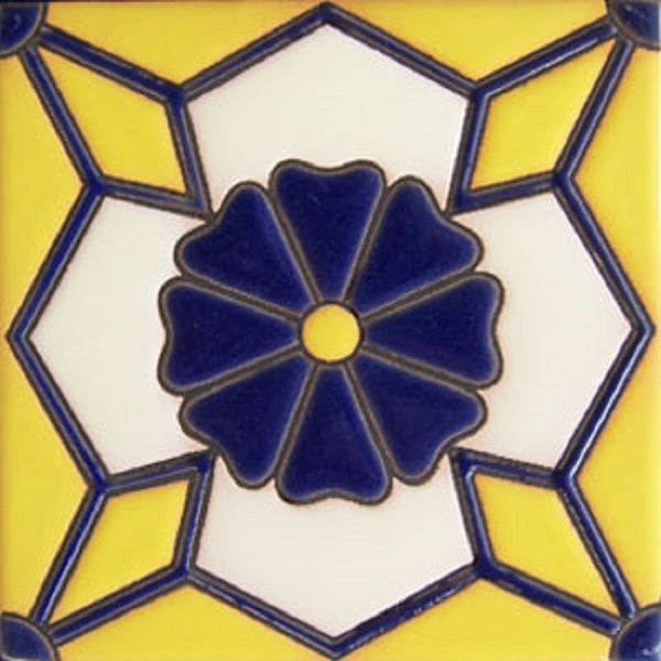 relief tile beautiful cobalt