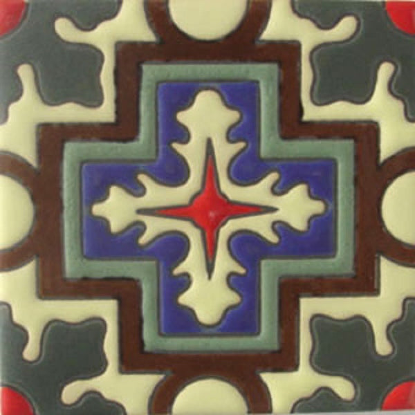 hand fabricated relief tile