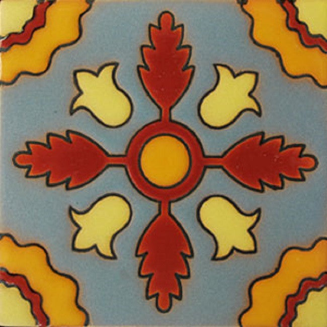 relief tile traditional yellow