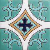 relief tile colonial turquoise