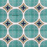 high relief tiles colonial turquoise