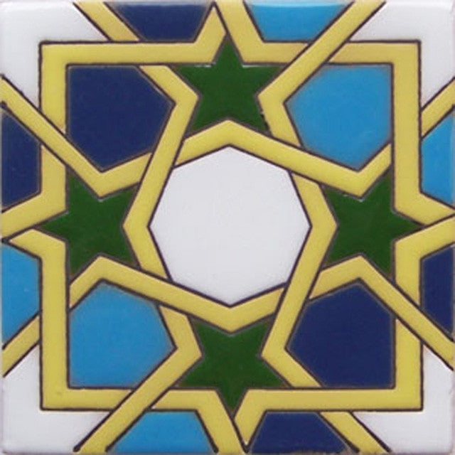 relief tile old world green