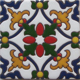 relief tile vintage dark blue