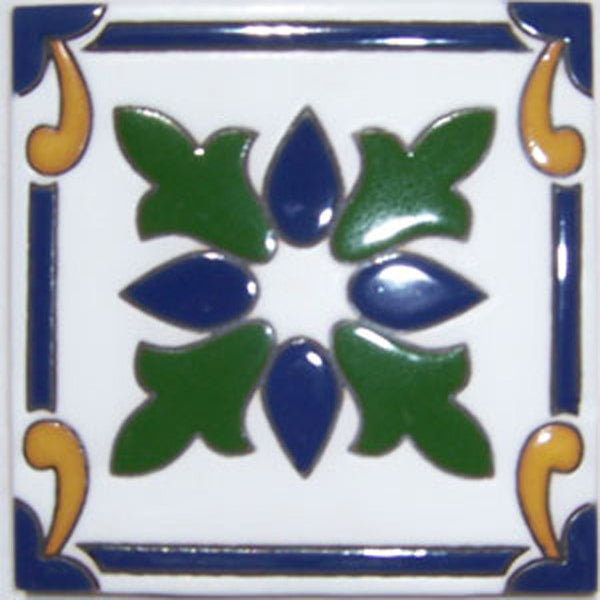 relief tile antique cobalt