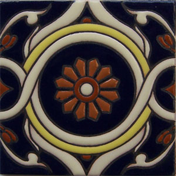 relief tile European white