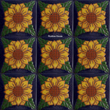 high relief tiles original yellow