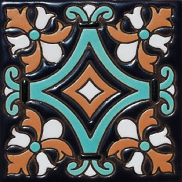 relief tile Mexican pastel green