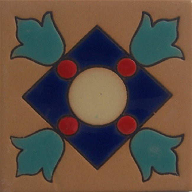 relief tile green blue
