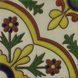 relief tile yellow green