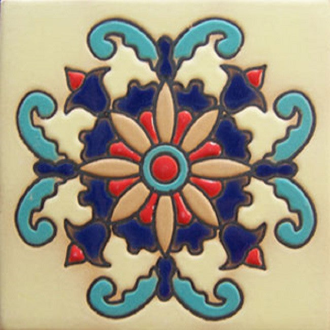hand crafted vintage relief tile