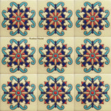 hand crafted vintage high relief tiles