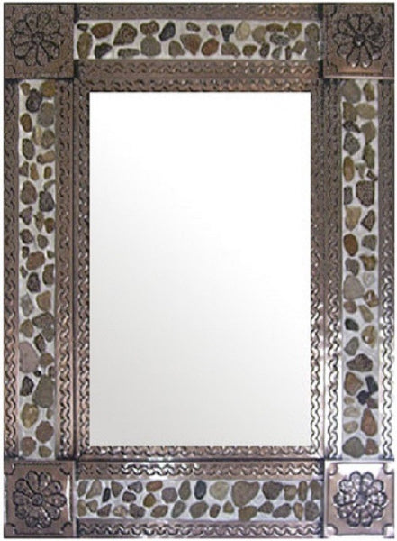 decorative tin mirror